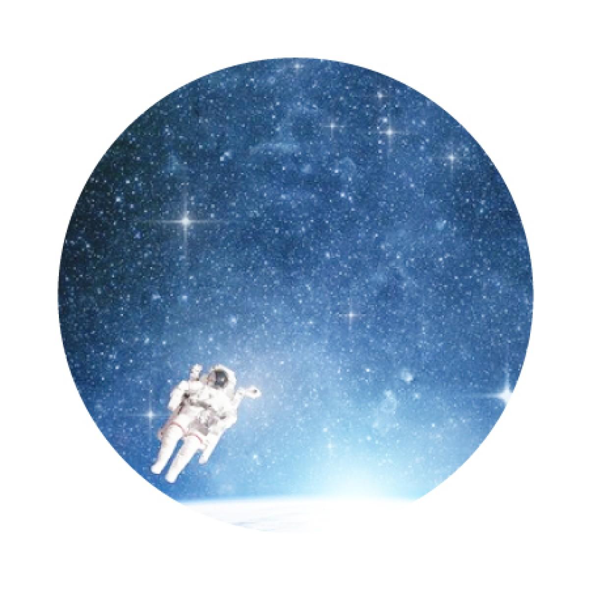 Astronaut Whiteboard Sticker