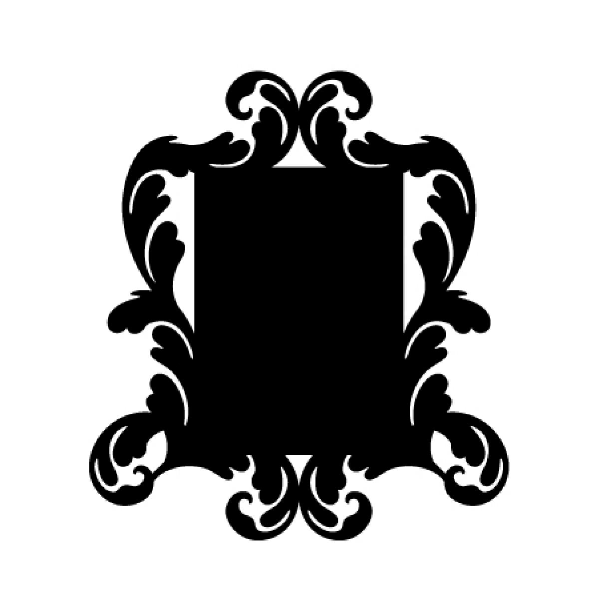 Baroque 4 Chalkboard Sticker