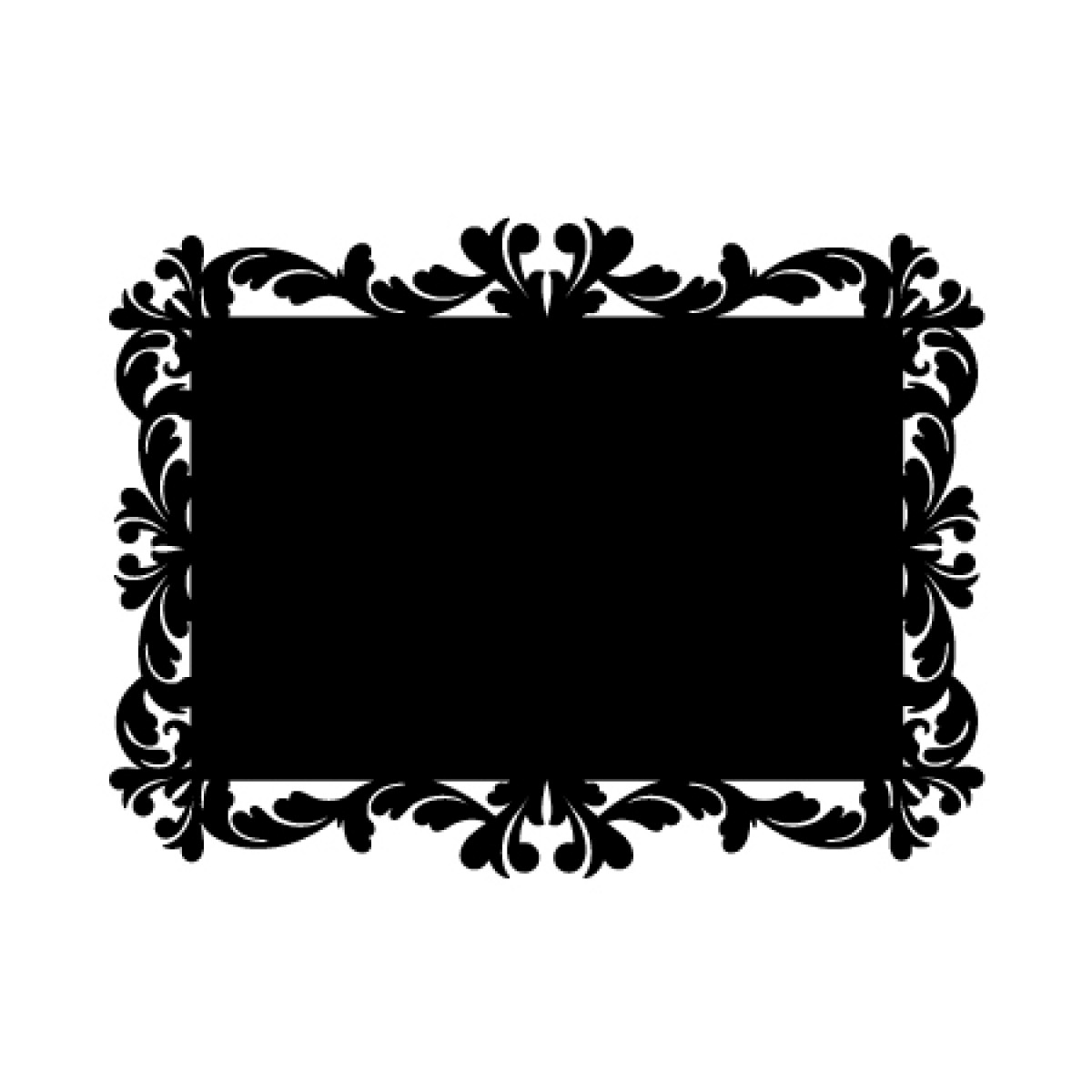 Baroque 5 Chalkboard Sticker