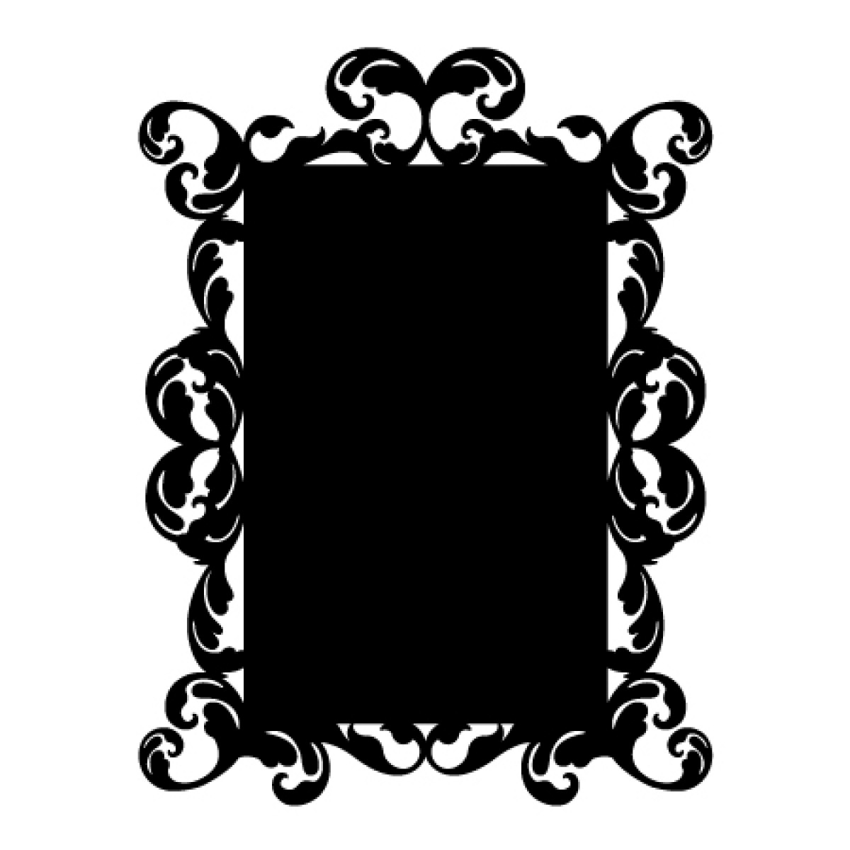 Baroque 7 Chalkboard Sticker