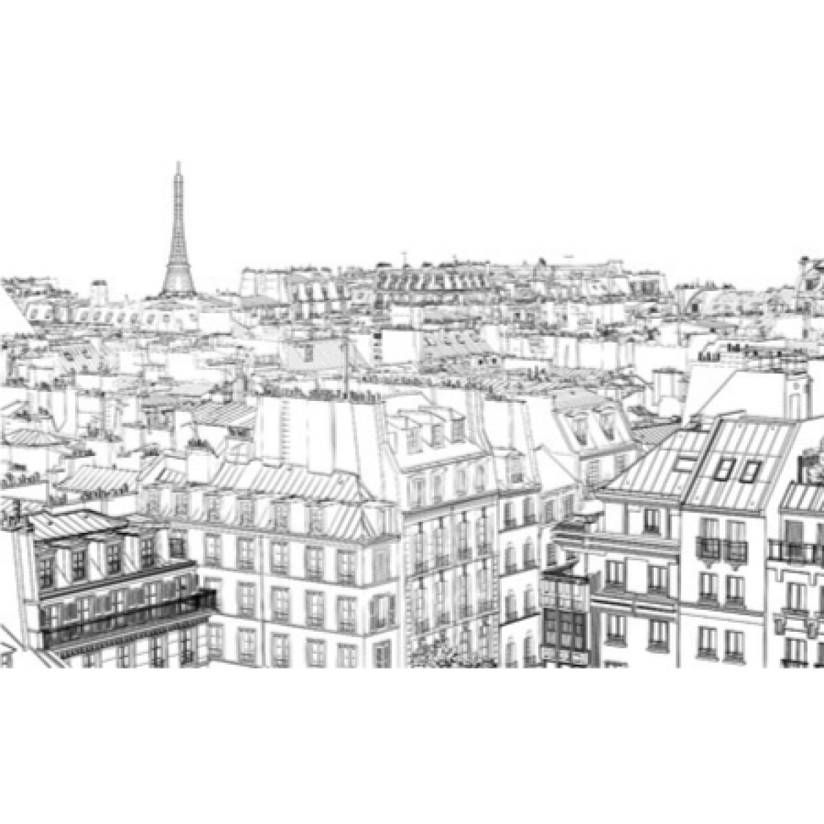 Illustration Of Roofs In Paris