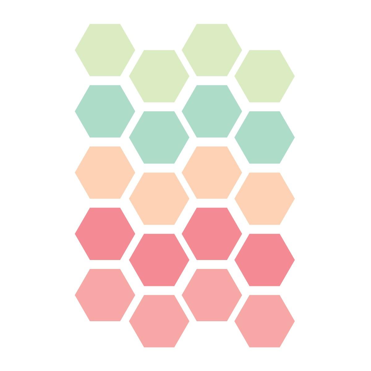 Hexagon Whiteboards Stickers