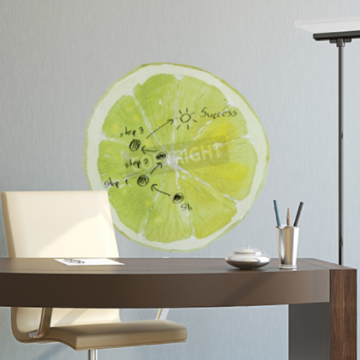 Slice Of Lime Whiteboard
