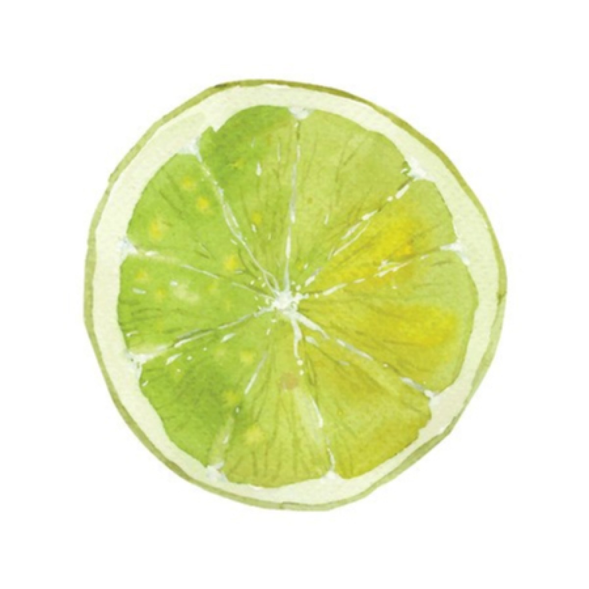Slice Of Lime Whiteboard Sticker