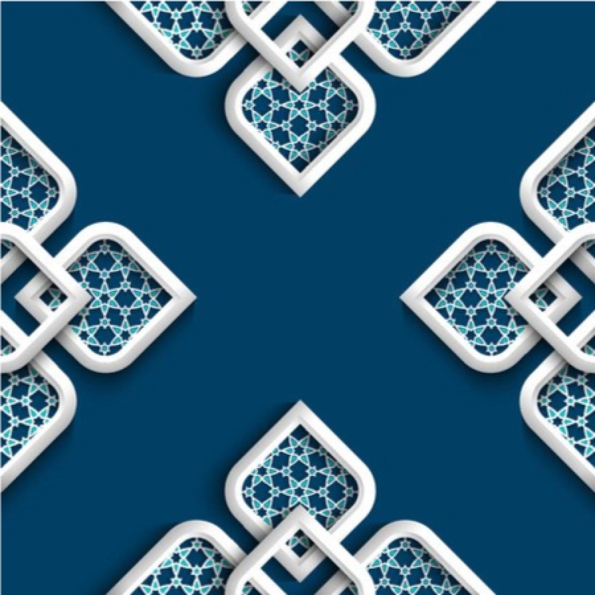 White Arabic Ornament