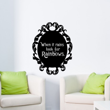Baroque 3 Chalkboard Sticker
