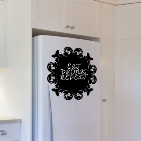 Baroque 6 Chalkboard Sticker