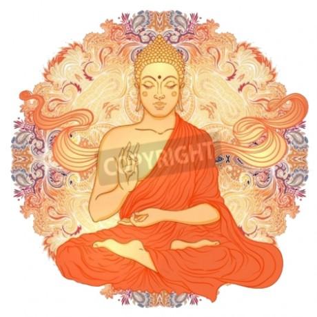 Buddha With Ornate Mandala