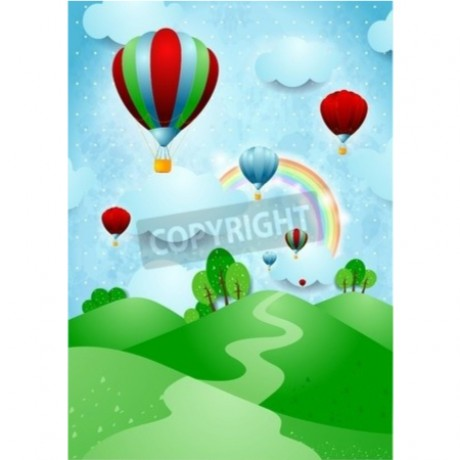 Cartoon Hot Air Balloons