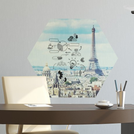 Eiffel Tower Whiteboard Sticker