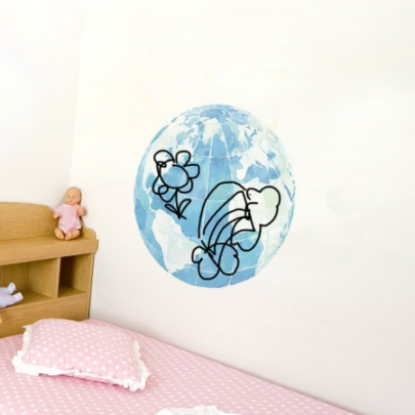 Globe Whiteboard Sticker