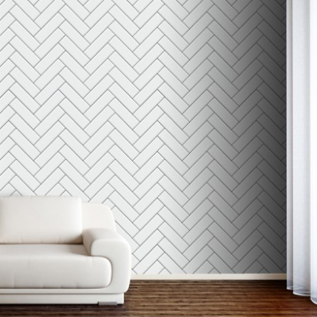 Herringbone White Tiles