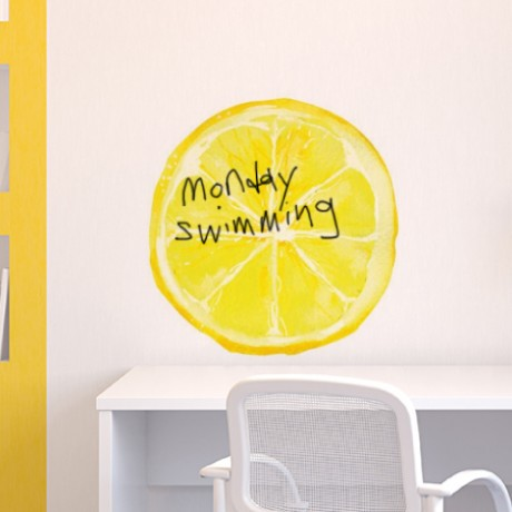 Lemon Slice Whiteboard Sticker