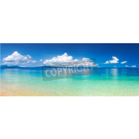 Panoramic View Of Tropical Beach