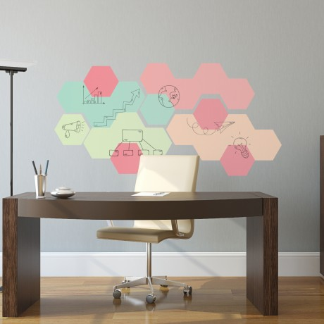 Hexagon Whiteboards Stickers