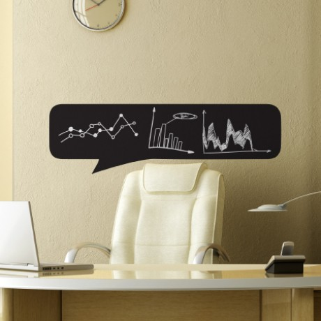 Speech Bubble 4 Chalkboard Sticker