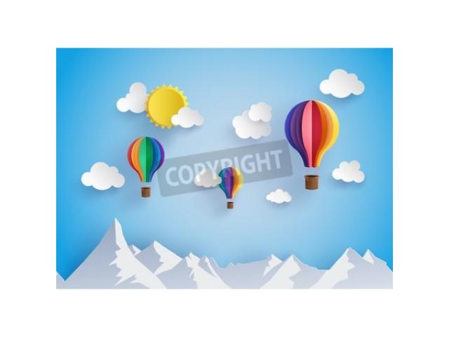 Origami Hot Air Balloon Pinnacle Wall Arts